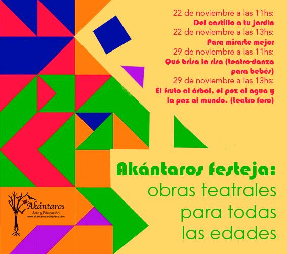 akantaros festeja con horarios