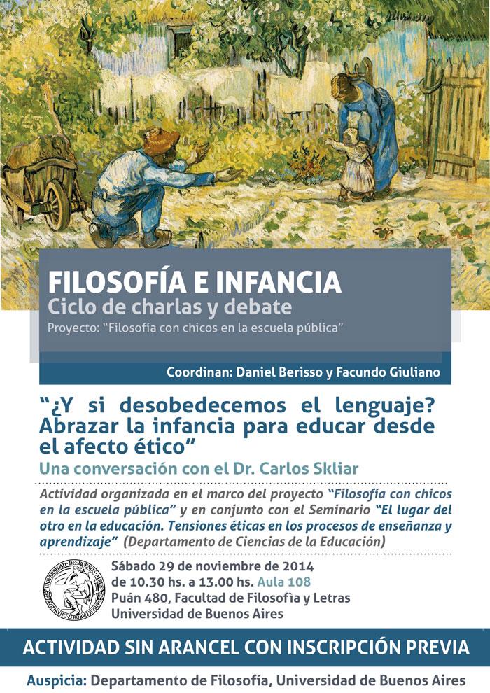 Flyer conversación con Carlos